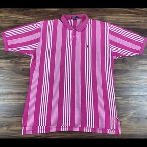 Polo by Ralph Lauren Men's Pink White Stripe XXL